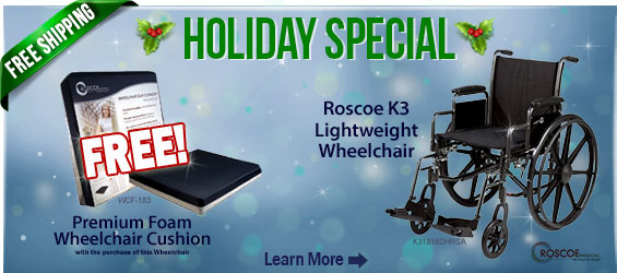Roscoe K3 Wheelchair w/ free cushion