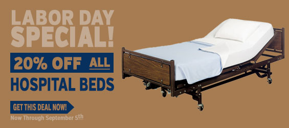20% Off on any Power Hospital Bed through September 5