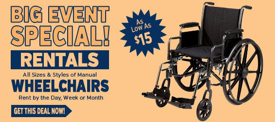 Wheelchair Rental Big Event Special