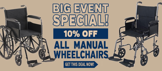 Manual Wheelchairs 10% off Big Event Special