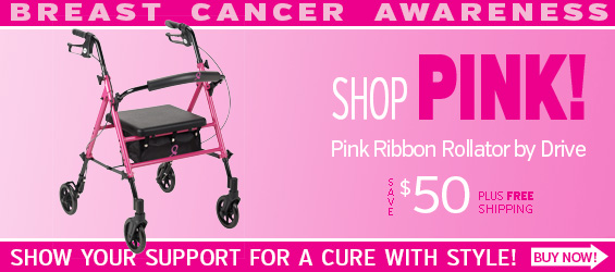 Pink Ribbon Rollator by Drive