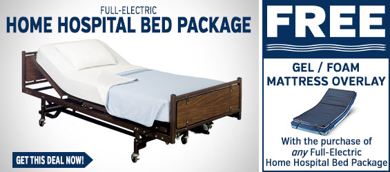 Full Electric Home Hospital Bed Package + FREE Gel Overlay