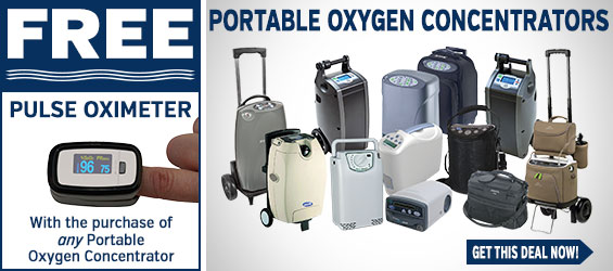 Portable Oxygen Concentrators + FREE Pulse Oximeter
