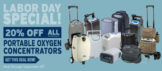 20% Off on any Portable Oxygen Concentrator through September 5