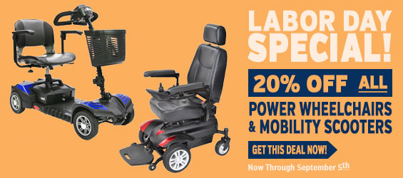 20% Off on any Power Wheelchair or Mobility Scooter through September 5