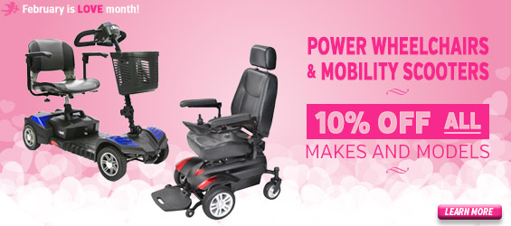 10% off all power wheelchairs and mobility scooters