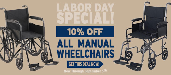 10% Off on any Manual Wheelchair through September 5