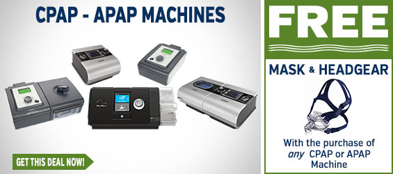 CPAP Machines + FREE CPAP Mask & Headgear