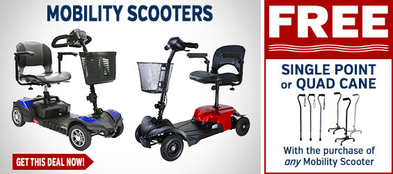 Mobility Scooters + FREE Single or Quad Cane