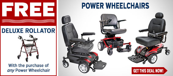Power Wheelchairs + FREE Deluxe Rollator